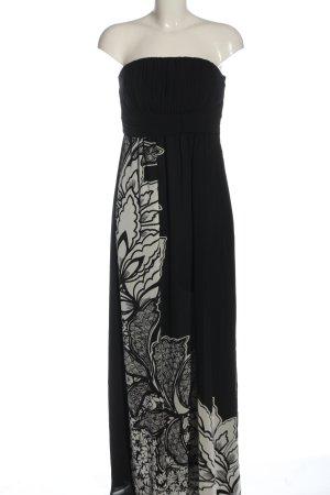 Esprit Robe longue noir-gris clair imprimé avec thème élégant