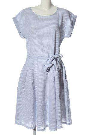 Esprit Vestido de manga corta azul-blanco estampado a rayas look casual