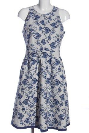 Esprit Robe mi-longue blanc-bleu imprimé allover style décontracté
