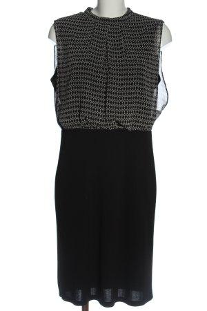 Esprit Midikleid schwarz-weiß grafisches Muster Business-Look