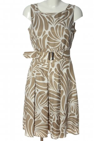 Esprit Midikleid creme-wollweiß abstraktes Muster Elegant
