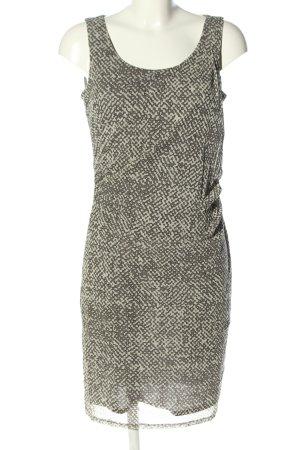 Esprit Robe mi-longue crème-gris clair motif abstrait style décontracté