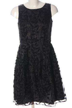 Esprit A-Linien Kleid silberfarben-schwarz abstraktes Muster Elegant