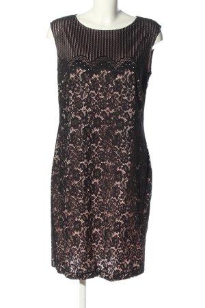 Esprit Robe mi-longue noir motif rayé élégant