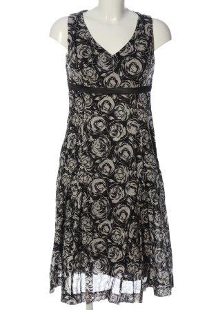 Esprit Robe mi-longue noir-blanc imprimé allover style décontracté