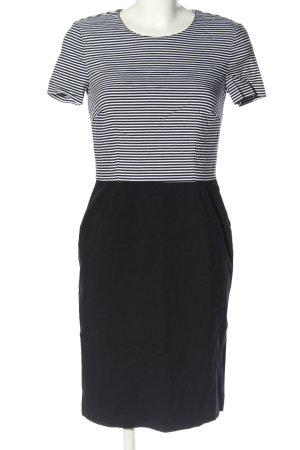Esprit Midikleid schwarz-weiß Streifenmuster Casual-Look