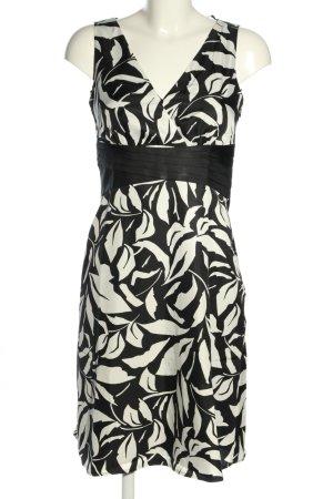 Esprit Robe mi-longue blanc-noir imprimé allover style décontracté