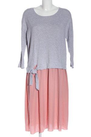 Esprit Midikleid hellgrau-pink meliert Casual-Look