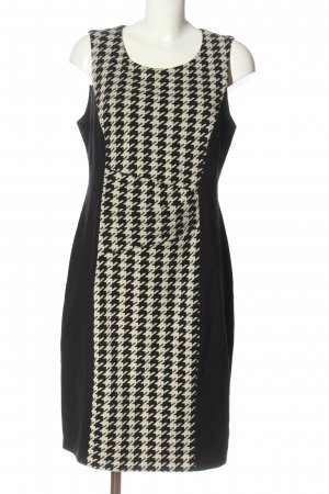 Esprit Midikleid schwarz-wollweiß abstraktes Muster Elegant