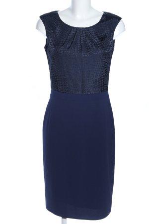 Esprit Midikleid blau abstraktes Muster Elegant
