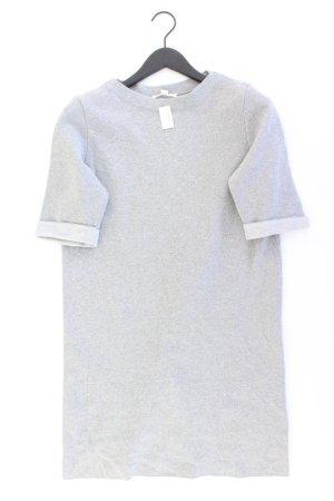 Esprit Midikleid Größe L 3/4 Ärmel grau aus Baumwolle