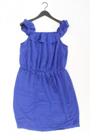 Esprit Midikleid Größe L mit Gürtel Träger blau