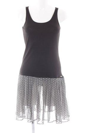 Esprit Midikleid schwarz-weiß abstraktes Muster Casual-Look