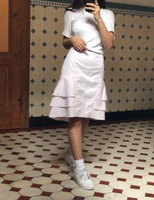 Esprit Spódnica z falbanami różany Bawełna