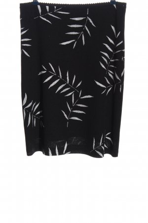 Esprit Spódnica midi czarny-biały Na całej powierzchni W stylu casual