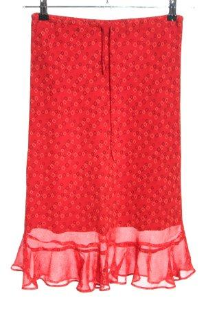 Esprit Spódnica midi czerwony Na całej powierzchni W stylu casual