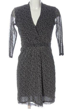 Esprit Minikleid schwarz-weiß Allover-Druck Elegant