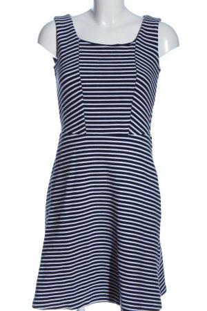 Esprit Minikleid blau-weiß Streifenmuster Casual-Look
