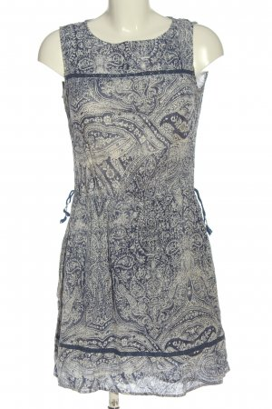 Esprit Minikleid weiß-blau abstraktes Muster Casual-Look