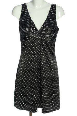 Esprit Minikleid schwarz-weiß Allover-Druck Casual-Look