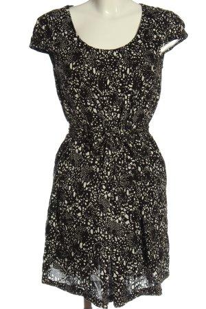 Esprit Minikleid schwarz-wollweiß abstraktes Muster Casual-Look