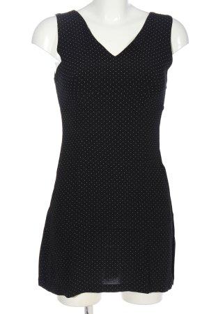 Esprit Minikleid schwarz-weiß Punktemuster Casual-Look