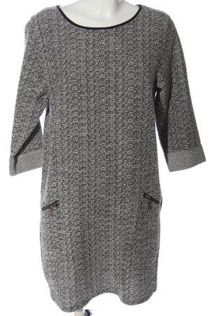 Esprit Minikleid weiß-schwarz meliert Casual-Look