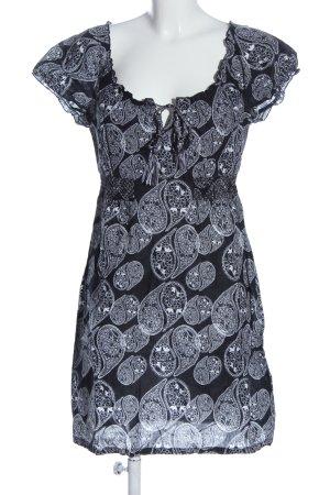 Esprit Minikleid schwarz-weiß abstraktes Muster Casual-Look