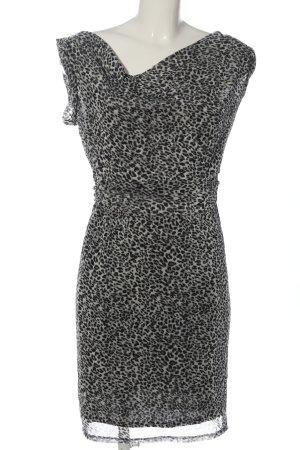 Esprit Minikleid schwarz-hellgrau Leomuster Elegant