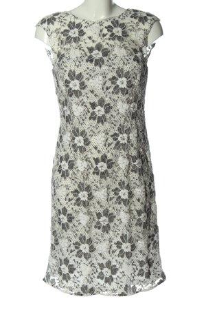 Esprit Minikleid hellgrau-weiß Casual-Look