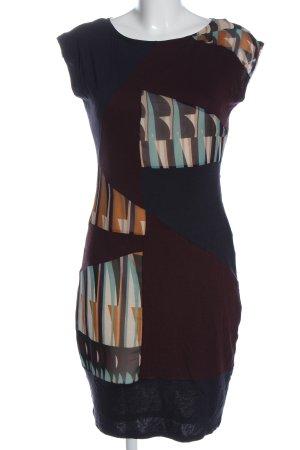 Esprit Minikleid schwarz abstraktes Muster Casual-Look