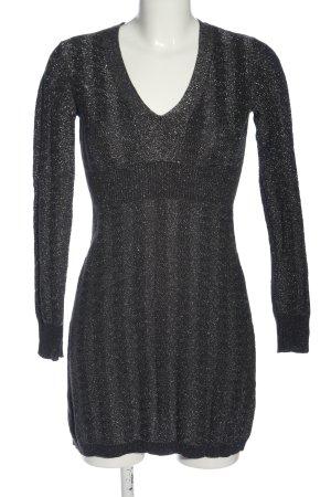 Esprit Minikleid schwarz-silberfarben Streifenmuster Casual-Look