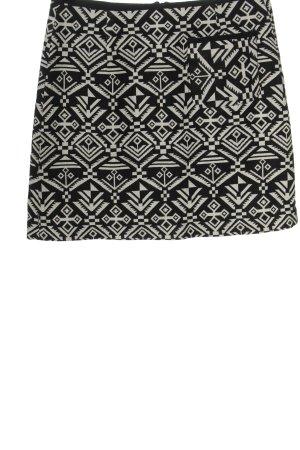 Esprit Minirock schwarz-wollweiß grafisches Muster Casual-Look