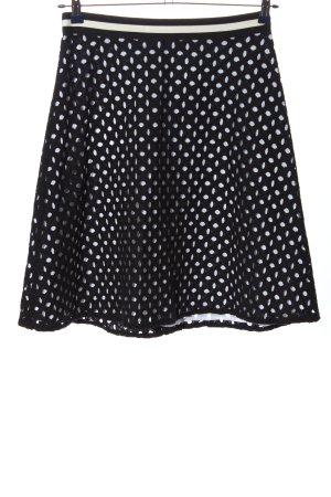 Esprit Minirock schwarz-weiß Punktemuster Casual-Look