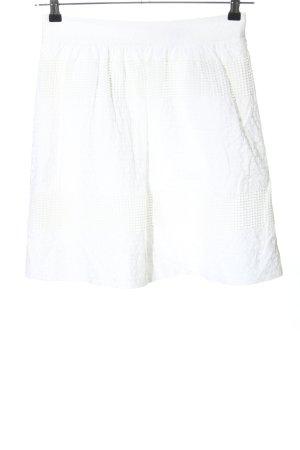 Esprit Minirock weiß Blumenmuster Casual-Look