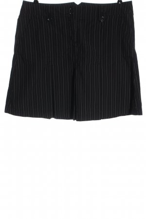 Esprit Minirock schwarz Streifenmuster Casual-Look