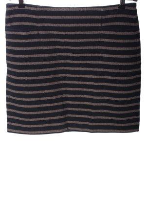 Esprit Minirock schwarz-wollweiß Streifenmuster Casual-Look