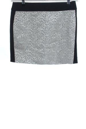 Esprit Minirock schwarz-silberfarben Glanz-Optik