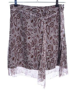 Esprit Minirock braun-wollweiß abstraktes Muster Casual-Look