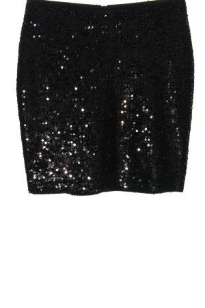 Esprit Minirock schwarz-silberfarben Elegant