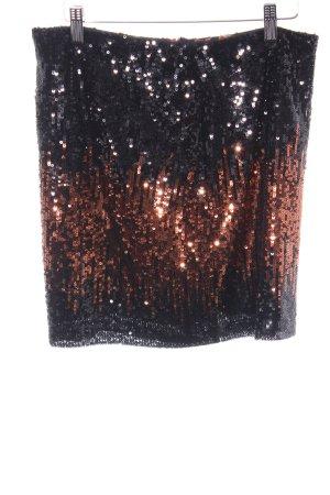 Esprit Minirock schwarz-rostrot Glanz-Optik