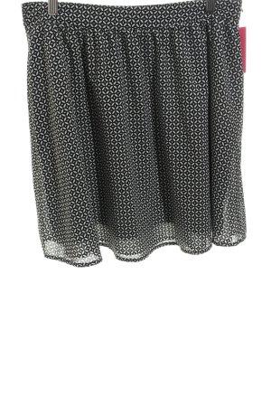 Esprit Minirock schwarz-wollweiß Allover-Druck schlichter Stil
