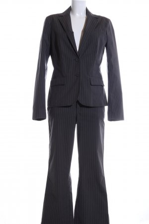 Esprit Pinstripe Suit black-light grey striped pattern business style