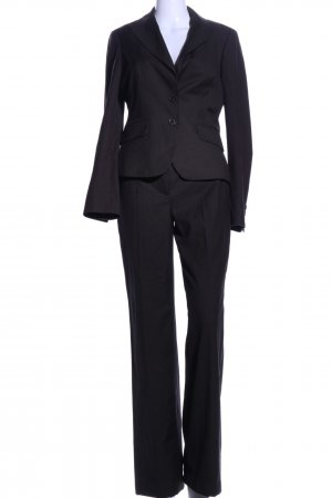 Esprit Pinstripe Suit black striped pattern business style