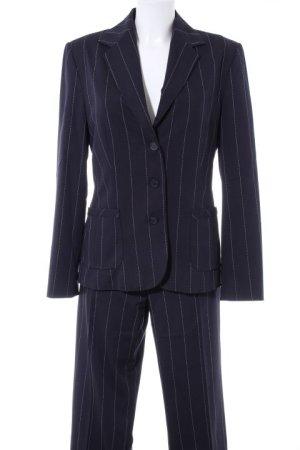 Esprit Pinstripe Suit dark blue-white pinstripe business style