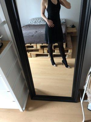 Esprit Vestido de cuello Halter negro Algodón