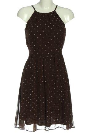 Esprit Halter Dress brown-white spot pattern elegant