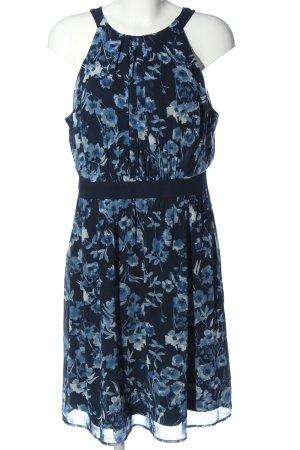 Esprit Neckholderkleid blau-weiß Blumenmuster Casual-Look