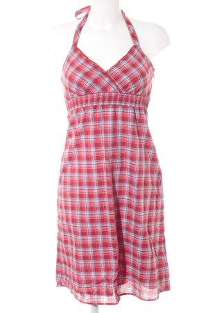 Esprit Neckholderkleid rot-kornblumenblau Streifenmuster sportlicher Stil