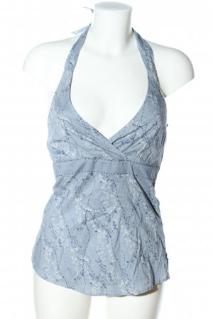 Esprit Halter Top blue abstract pattern casual look